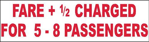 S42 - Fare For 5-8 Passengers