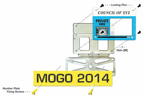 MOGO (MAIN) Taxi Plate Holder