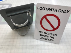 Post and clamp signage