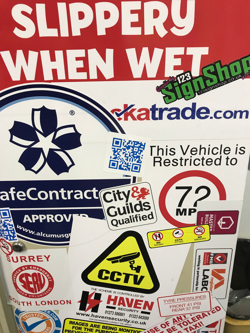 Tradesman stickers and decals