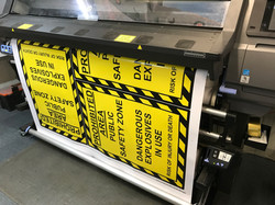 Warning sign printing