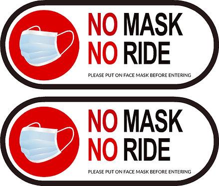 No Mask No Ride Sticker
