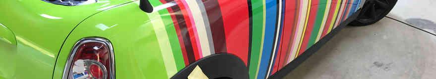 Mini Roadster Vinyl Wrap Day 2
