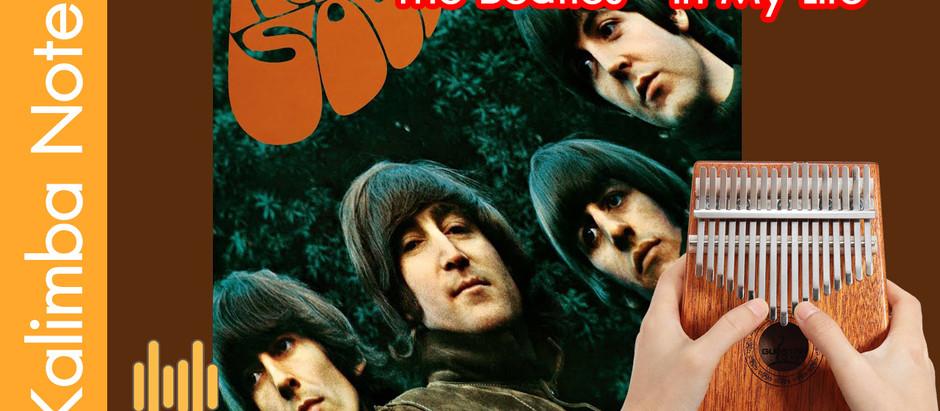 โน๊ต คาลิมบา Kalimba note เพลง The Beatles - In My Life