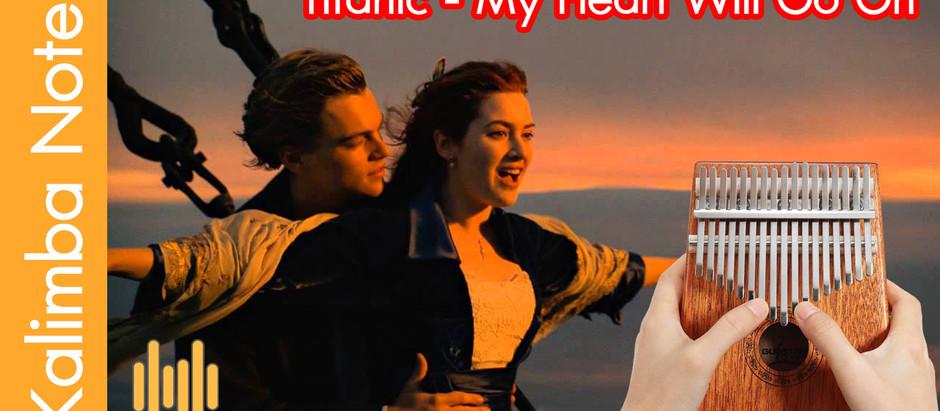โน๊ต คาลิมบา Kalimba note เพลง Titanic - My Heart Will Go On