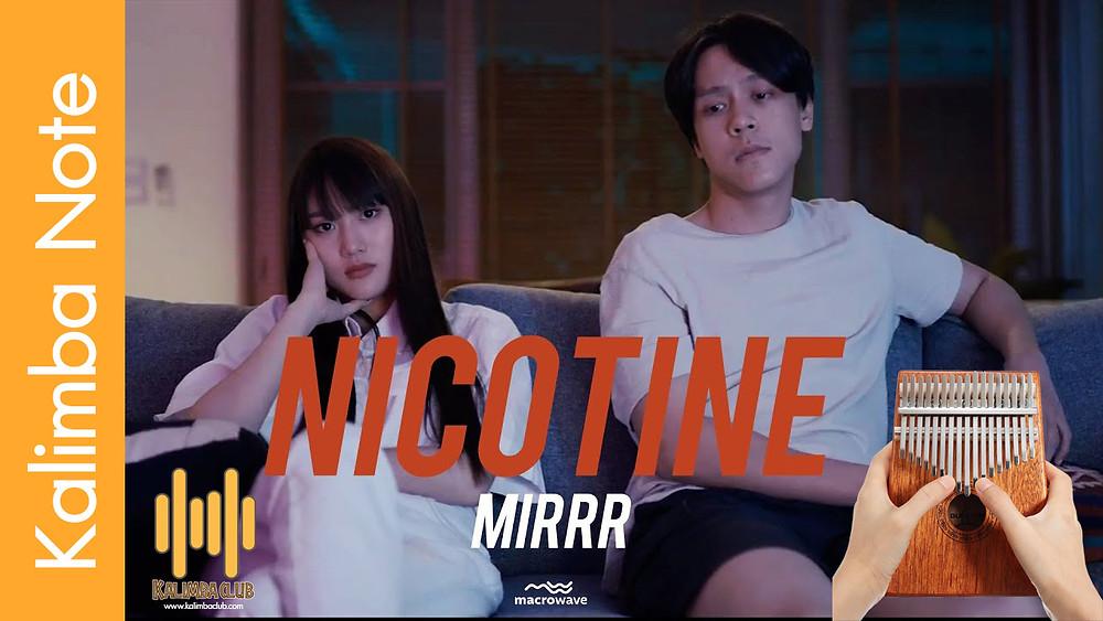 โน๊ต kalimba เพลงไทย นิโคติน (nicotine) - Mirrr