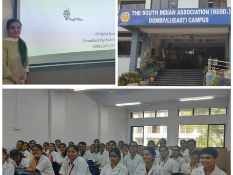 Child Psychiatry for Physiotherapy students at South Indian Association College, Dombivli