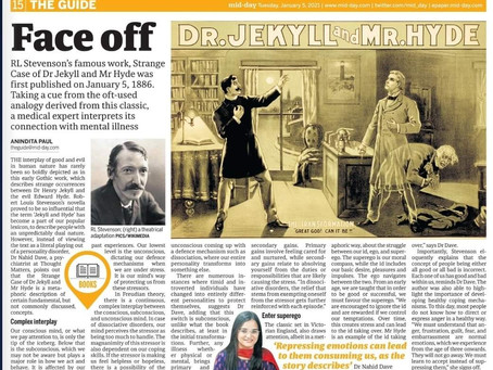 Understanding Dr Jekyll and Mr Hyde - Quoted in Mid-day