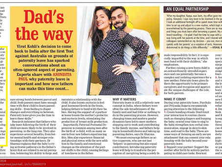 Paternity leave and the Role of a father in the initial days
