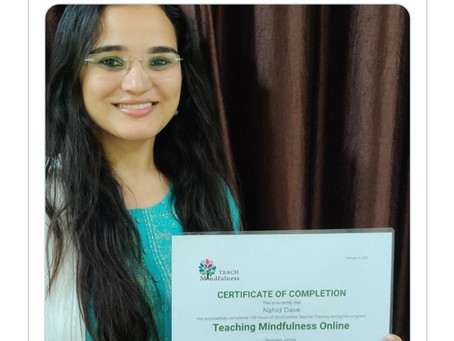 'Mindfulness Teacher' Training Completed