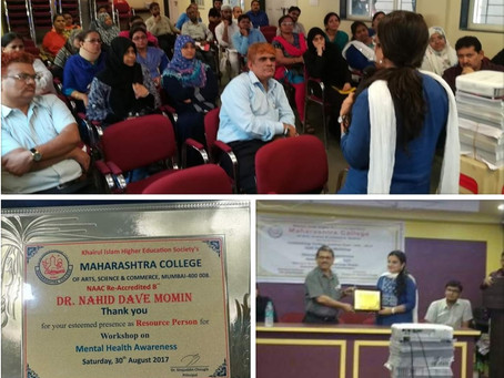 Mental health Awareness- Maharashtra College