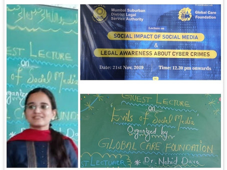 Social Media Awareness - D Ed students by Global Care Foundation