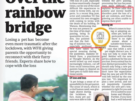 Quoted in Mid-Day- Understanding the role of Pets in difficult times