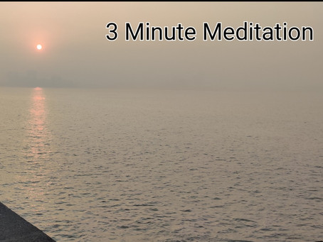 Simplest form of Meditation- 3 minutes in English and Hindi