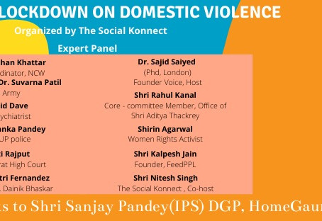 Panel discussion on rising Domestic Violence during the lockdown