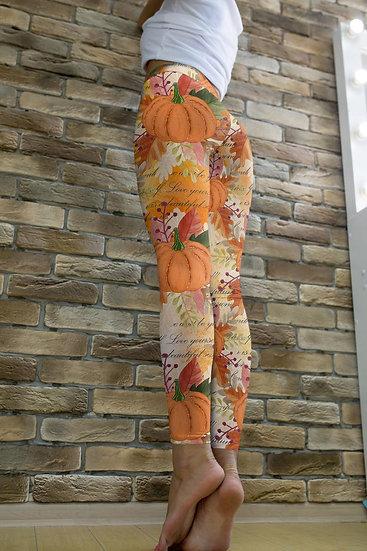 High Waist Pumpkin Leggings