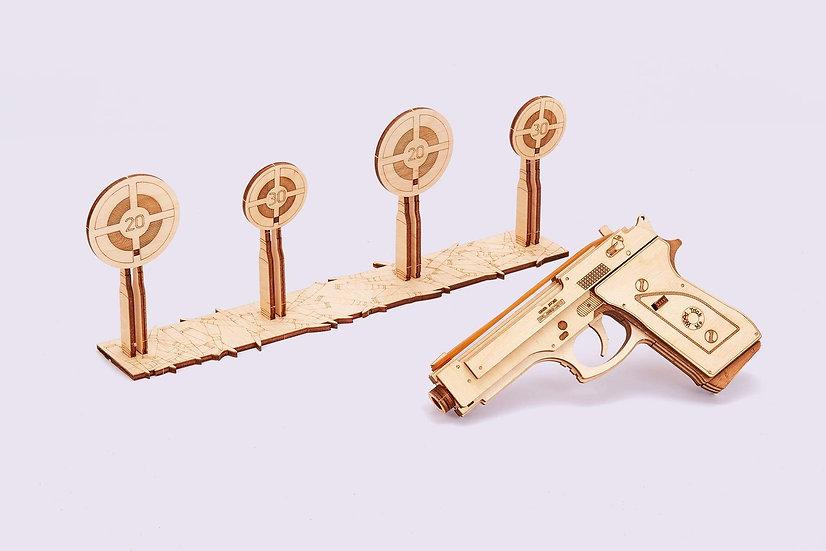 Wooden Rubber Band Gun M1 Puzzle