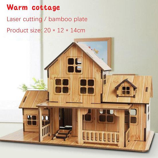 3D Wooden Architecture DIY House Villa Puzzle