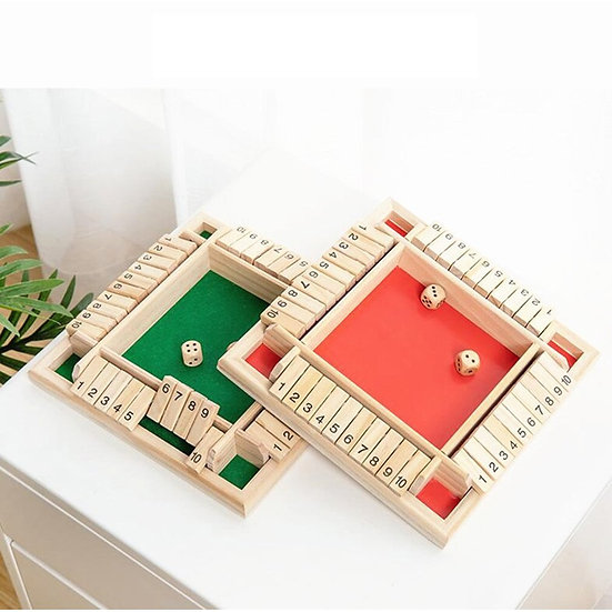 Traditional Four-Sided Flop Wooden Number Game