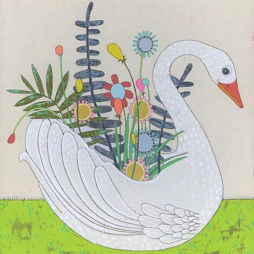 """Swan Planter"" Mini Print"