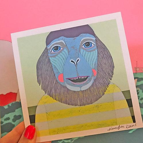 """Monkey"" Mini Print"