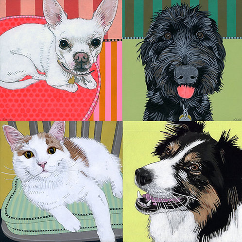 Large Custom Pet Portrait