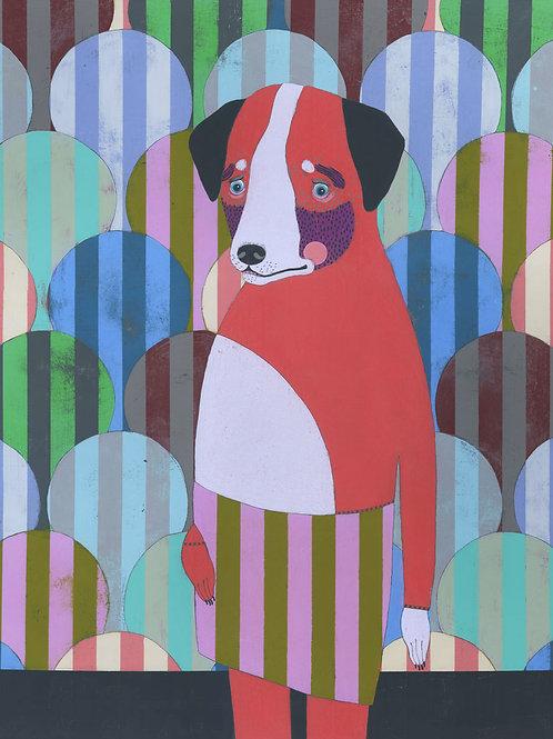 """Red Dog"" Large Original Painting"