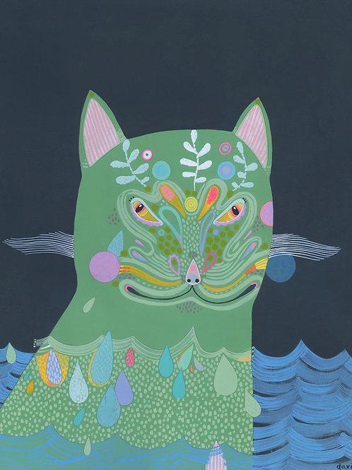 Crabby Cat - Original Painting