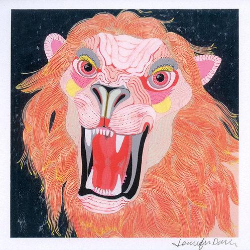 """Lion"" Mini Print"