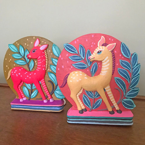 """""""Donkey Bookends"""" Set of Original Hand-Painted Vintage Bookends"""