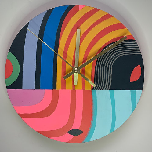 Stripes  Clock * Hand-Painted