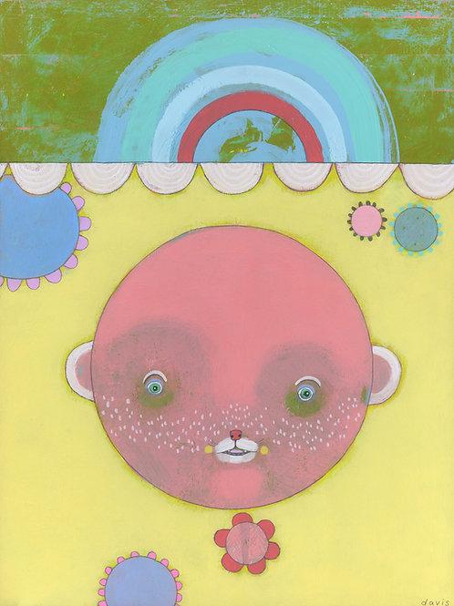 """Pink Bear"" Original Painting"