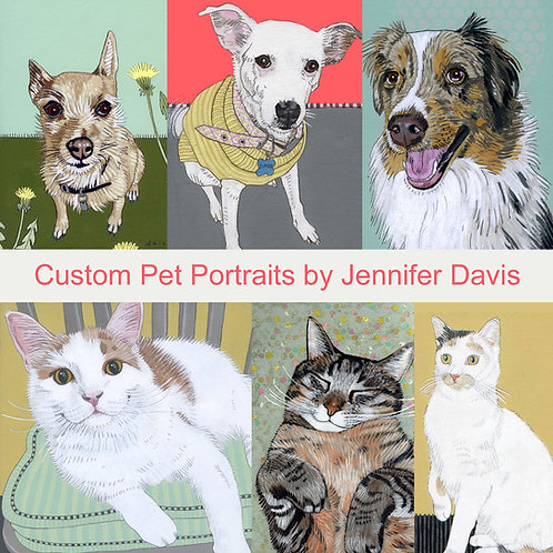 GIFT CERTIFICATE - LARGE Custom Pet Portrait