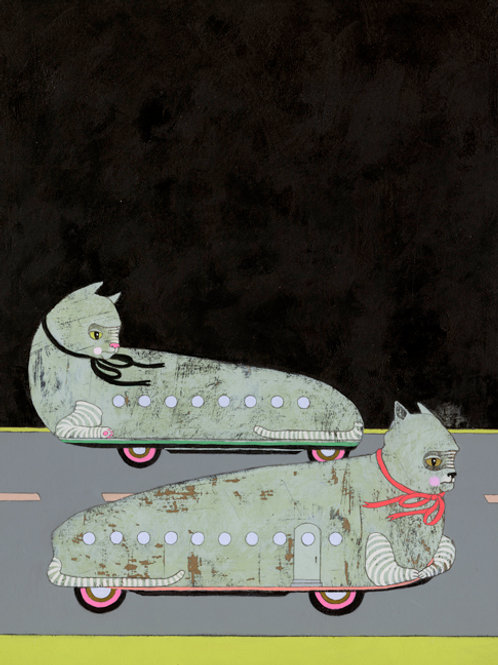 Cat Cars - Limited Edition Print