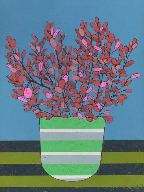 """Red Plant"" Original Painting"