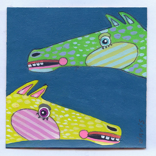 Horses - Post-It Painting