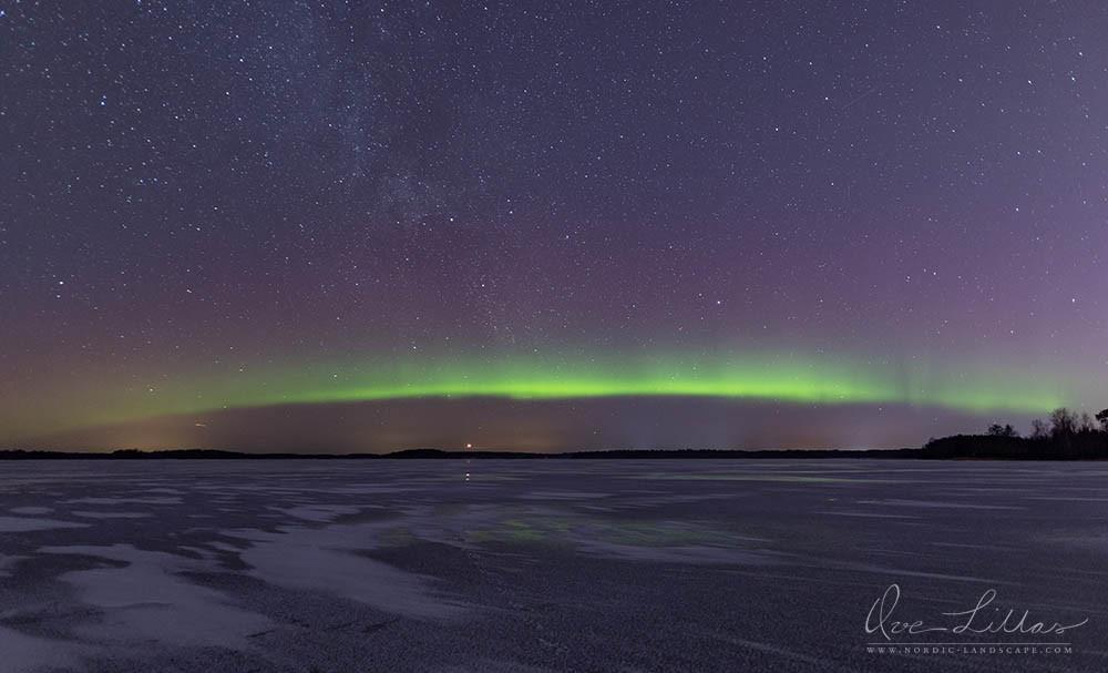 Aurora Borealis over the frozen sea
