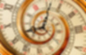 Antique old clock abstract fractal spira