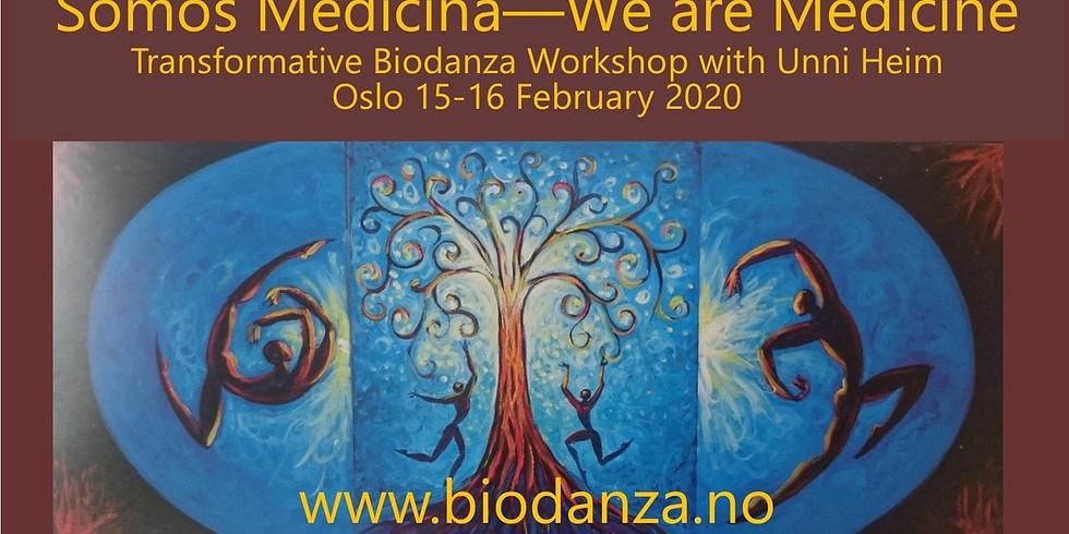 Somos Medicina - We are Medicine - Transformative Biodanza workshop with Unni Heim