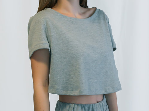Grey Open Back Lounge Top
