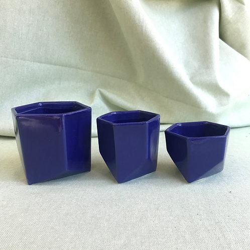 Indigo Tri Pots
