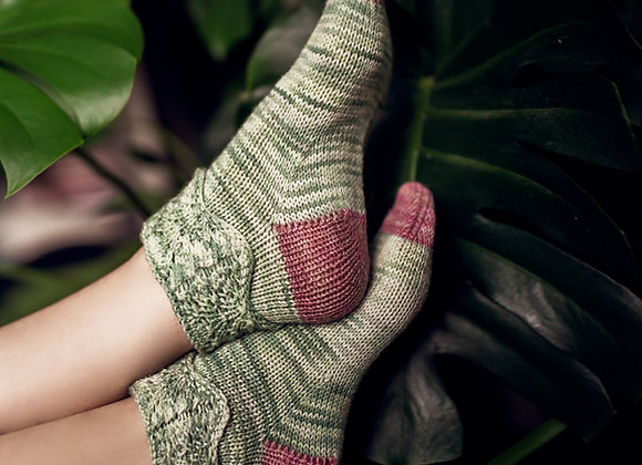 Blushing Olive Socks