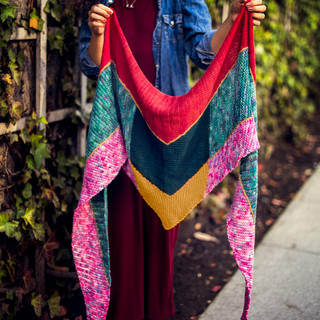 Garter stitch scarf knitting pattern