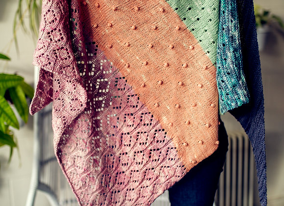 Pastel Gemstones Shawl
