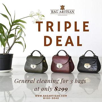 Handbag cleaning promotion