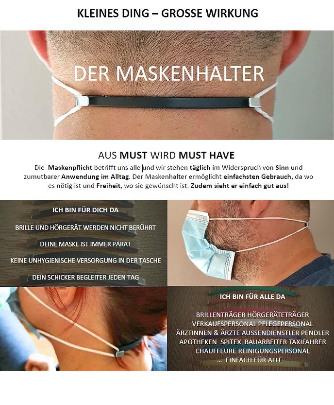 Maskenhalter, Maske, tragen, komfort, Hörgerät, Brille, Hygiene, Ohrenschoner,