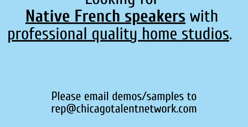 Calling All: Native French Speakers!
