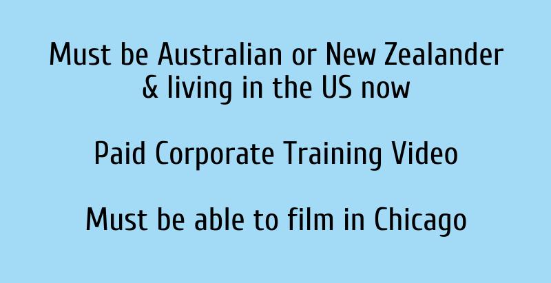 Talent Search - Australian or New Zealander Men 25-45