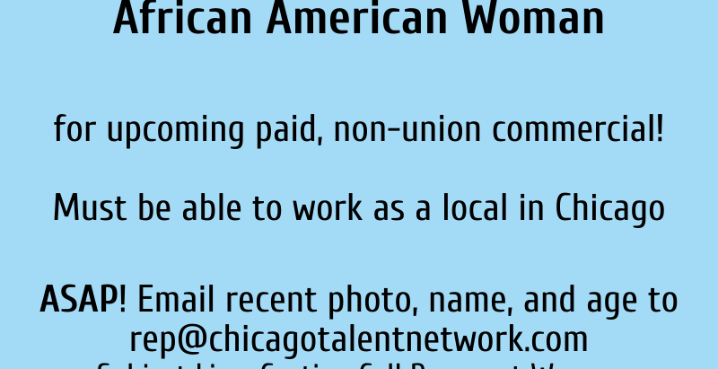Casting Call: Visibly Pregnant African American Woman