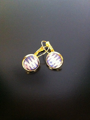 Ohrringe - boucles d'oreille kente